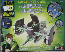 BEN 10 Galvanic Gunship for Alien figures Glows! NEW BANDAI includes Nanomech