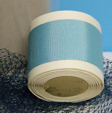 "BTY Vintage 2.0"" Lt Blue Cotton Silk Grosgrain Ribbon Petersham Hat Millinery"