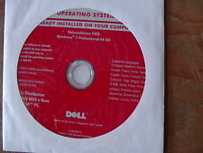 Genuine HP Windows 7 Professional SP1 64 bit Install Disc RED Label DVD
