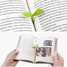 4PCS Novelty Silicone Leaf Bookmarks Note Pad Memo Stationery Book Mark Gifts
