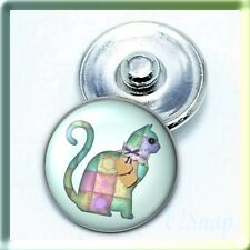 AMINAL QUILTED CAT Ginger Snap Button Charm (Cart ANY 4 items, 2 w/be FREE)