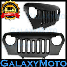 Matte Black Jeep TJ 97-06 Wrangler ABS Overlay Grille Shell Angry Bird Style 4x4
