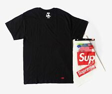 Supreme Hanes Black Crew Box Logo T- Shirt Medium - Authentic with Receipt