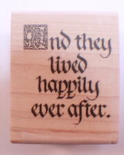 Stampington And Co Wooden Rubber Stamp ...And They Lived Happily Ever After