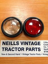 Massey Ferguson 35 35x 65 135  Butlers Side Light Rubber And Lens 1 Red 1 Clear