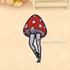 Mushroom Leg Embroidered Sew On Iron On Patch Badge Bags Fabric Applique Craft