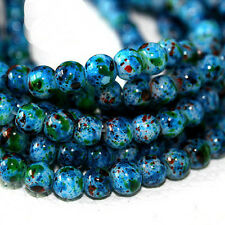 Approx 140pcs/lot 6mm Blue Glass Beads for Jewelry Macking