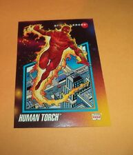 Human Torch # 58 1992 Marvel Universe Series 3 Base Impel Trading  Card