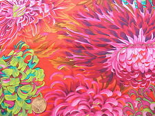 Fat Quarter Kaffe Fassett Chrysanthemum Scarlet - Rowan Cotton Quilting Fabrics