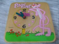 PINK PANTHER PANTERA ROSA OROLOGIO IN LEGNO ANNI 80