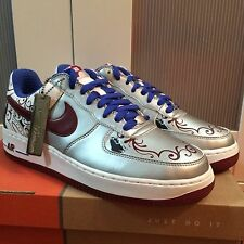 """Nike Air Force 1 Premium Lebron James """"Collection Royal Size US10 2006 DEADSTOCK"""