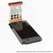 6500mAh Extended Battery for Samsung Galaxy Note II GT-N7100 Black Cover
