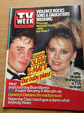 TV Week Mag Jul 1985. Olivia Newton John, Matt Lattanzi, Cher, Brian Mannix