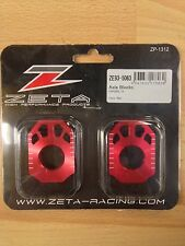 HONDA   CRF 250 L   CRF250 L   2012-2015  ZETA  AXLE CHAIN ADJUSTER BLOCKS  RED