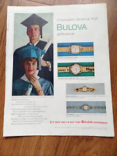 1960 Bulova Watches Ad Graduation Theme 1960 Camel Cigarette Ad Graeme Howard Jr