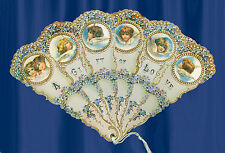 VICTORIAN  ANGEL WINGS HAND FAN Greeting Card