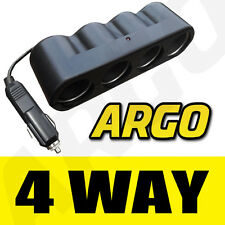 12 / 24v 4 Way Multi Socket Divisor Cargador & enchufe del coche
