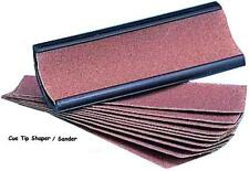 Cue Tip Shaper / Sander / File with 10 sandpaper refills. A great tipping tool.