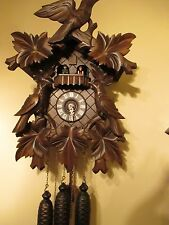 1978 - 79 / 8 Days Black Forest Coucou Clock  w/ Music Box .