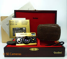 60 YEAR ANNIVERSARY GOLD ROLLEI 35 S 35MM FILM CAMERA SONNAR 40MM F2.8 LENS MINT