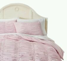 Simply Shabby Chic Pink Smocked Duvet Set 3pc ~ KING ~ New Target