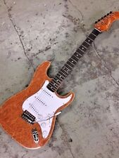 6 STRING BIRDSEYE STRAT STYLE 6 STRING ELECTRIC GUITAR EXOTIC TONE WOODS