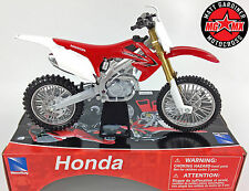 Honda CRF 250 - 1:12 Die-Cast Motocross Mx Motorbike Toy Model Bike Red New Ray