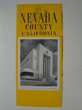 Nevada County California 4 x 9 Fold Out Promotional Brochure 1940's