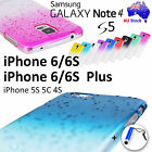 Gradient Colour Raindrop Back Case for iPhone 6 6S Plus 5S Galaxy Note 4 S5 S4