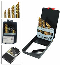 13pc HSS H SPEED STEEL DRILL BIT SET WOOD METAL HEX SHANK BITS TITANIUM COATED