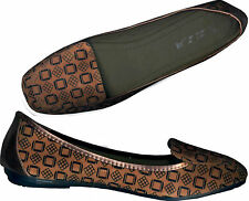 NWOB TERRACOTTA♥TEXTURED PRINTED♥SLIP_ON LOAFER ♥SUEDE SHOES_S40 / 41