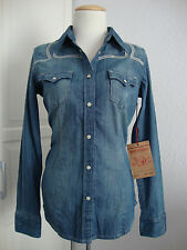 TRUE RELIGION Jeans WOMENS RAYE L/S Damen Jeanshemd Hemd Gr.XS NEU mit ETIKET