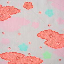 Pink Wool Muslin Kimono Vintage Fabric 28.5x93cm VF36