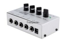 Professional 4 Channel Headphone Stereo Ha400 Amplifier Amp New Sound