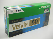 5 x FUJI FUJICHROME VELVIA 50 120 CHEAP SLIDE FILM SHORT DATED DATED 2017-5