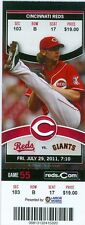 2011 Reds vs Giants Ticket: Edgar Renteria walk-off RBI single in 13th inning