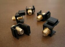 5 Lot F Insert Keystone Coax Jack Connector Cable Sat TV RG59 RG6 Adapter Black