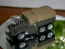 MUSCLE MACHINES 6X6 TRACK DIE CAST MILITARY VEHICLE 1/64 GREEN