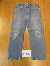 used Levi's 505 feather destroyed grunge jean tag 36x30 meas 34x29 18602F