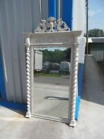 """LARGE ANTIQUE FRENCH SHABBY CHIC MIRROR IN F&B'S """"OLD WHITE""""  DELIVERY AVAILABLE"""