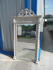 "LARGE ANTIQUE FRENCH SHABBY CHIC MIRROR IN F&B'S ""OLD WHITE""  DELIVERY AVAILABLE"