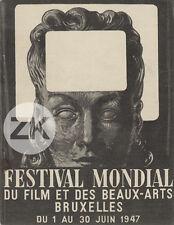 RENE MAGRITTE Festival FILM Bruxelles LABISSE Lumière Méliès Programme 1947