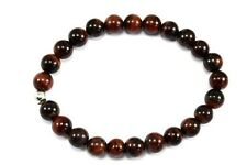TIGERAUGE ROT Edelstein-Armband / RED TIGER EYE Bracelet D400