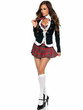 Blazer Donna SEXY Hallowen School Girl Costume Vestito segretario Gallina