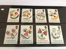 GUERNSEY SET MNH 1995 SG 663-70 GREETINGS STAMPS SEAFOOD BUCKETS SPADE SEAWEED