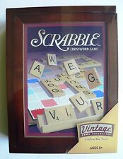 NEW Scrabble Vintage Library Bookshelf Game Collection Hasbro Wooden Box SEALED