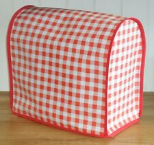 Red Gingham Vinyl Cover for KitchenAid and Kenwood kMix Mixers