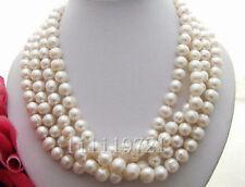 9-10mm weiße Süßwasser Perlenkette 180CM