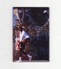 MICHAEL JORDAN / BRICK WALL - FRIDGE MAGNET (costacos poster chicago nike air)