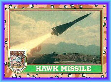 HAWK MISSILE ground to air attack defense Topps 1991 Operation Desert Storm # 52